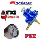 FSE Sytec Adjustable Fuel Pressure Regulator 1:1 & Gauge 1-5 bar BLUE SAR001B