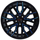 4 Wheels 18 inch Black Blue FLARE Rims fits SUBARU B9 TRIBECA 2006 2007