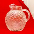 Anchor Hocking MILANO Lido Clear Glass Textured Ball Pitcher 96 oz. Iced Tea Wa