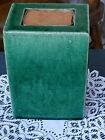 Chinese Antique Green Glazed Porcelain Planter Flower Bonsai Ikebana Square Vase