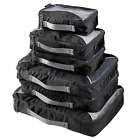 G4Free Packing Cubes Value Set for Travel 6pcs A Black