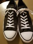 Converse All Star Mustache Black Gray Print Sneakers Shoes 12 men