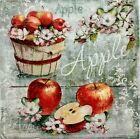 APPLES HARVEST FALL 2 single LUNCH SIZE paper napkins for decoupage 3 ply