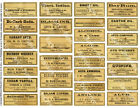 Apothecary Druggist Labels, Antique Pharmacy Art Reproductions, 2 Sticker Sheets