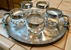 'S DOROTHY THORPE SILVER BANDED LOWBALL GLASSES, 7 OZ., VERY NICE!