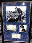Elvis Presley Autograph JSA full Letter of Authenticity, framed,matted,nice note