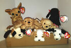 Ty Beanie Babies Lot of 7 Dogs Bernie Wrinkles Dotty Fetch Spunky GiGi Tiny