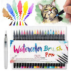 20 Colors Watercolor Brush Markers Pen +A Water Coloring Brush Free Gift