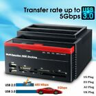 USB 2 30 IDE SATA HDD Docking Station All in One Card Reader Slot Hard Drive