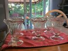 Vintage Ribbed Flared Ice Cream Parlor Dish Clear Glass Scalloped