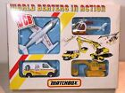 MATCHBOX G 3 JCB WORLD BEATERS IN ACTION 4 PIECE CONSTRUCTION GIFT SET 1987