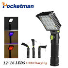 Pocketman® 16 LEDs Repair Working Lamp USB Charging Flasglight Torch Built-in