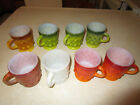 8 Anchor Hocking Fire-King Kimberly Coffee Cups