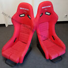 Bride Yellow Carbon Kevlar Red Cloth Suede Bucket Racing Seats With Sliders