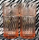 2 Anchor Hocking ANNAPOLIS-ROSEWATER Pink Flat Iced Tea Glasses 6