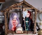 3067 Large Plastic Precious Moments Nativity Very unusual