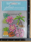 Jolees HAWAIIAN Boutique Stickers BEACH TROPICAL HIBISCUS PALM PINEAPPLE NEW