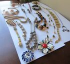 LOT Vintage 1960s 1970s MOD Modern ESTATE JEWELRY Necklaces Bracelets RETRO