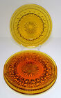 3 Indiana Glass Colony Park Lane Luncheon Plates Amber 8 1/2