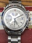 OMEGA Speedmaster 3513.30 Date Chronograph Automatic Silver Dial Preowned Watch
