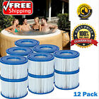 12 Pack Filter Cartridge Lay Z Lazy Hot Tub Spa Filters for All Lay Z Spas ONLY