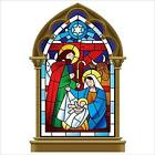 Stained Glass Nativity Scene Christmas Window Cling