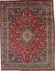Traditional Handmade Signed Plush Vintage Persian Area Rug Oriental Carpet 10X13