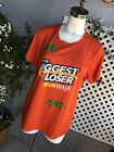 NBC THE BIGGEST LOSER Womens Run Walk Orange Clovers Athletic Shirt Top Sz XL