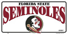 Florida State Seminoles White License Plate Sign Made in the USA
