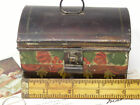 Nice 19th c. Antique MINIATURE Toleware PAINTED DOMED DOCUMENT BOX, AAFA NR