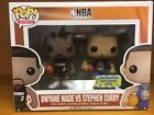 Funko POP Exclusive Golden State Warriors NBA Stephen Curry Dwyane Wade 2-pack