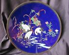 ANTIQUE 19th Century Japanese MEIJI PERIOD Cloisonne CHARGER plate THREE CRANES
