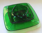 Vtg Anchor Hocking Forest Green CHARM Square Lunch Plate, Salad/Soup Bowl