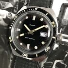 Timex 70s/80s Vintage French Made Men's Divers Watch Black Military Style Dial