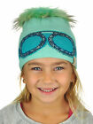 C.C Kids' Children's Shiny Rhinestone Goggles / Raccoon Fur Pom Knit CC Beanie