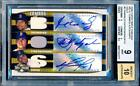 BGS 9 10 2006 Triple Threads Manny Ramirez Carl Yastrzemski David Ortiz Auto 6 9