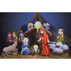 Christmas Decoration Outdoor Indoor Nativity Scene Holiday Standee Set NEW
