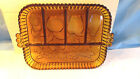 INDIANA Amber designed 5 section relish dish nut and candy dish mint vintage