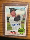 Trevor Story 2017 Topps Heritage Real One On Card Auto # ROA-TST Rockies