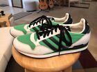 Adidas 661279 Green White Blue Mens US12 Leather Athletic Sneakers Shoes