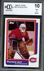 1986-87 Topps # 53 Patrick Roy RC ROOKIE MONTREAL CANADIENS BCCG 10 MINT