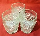 Vintage Indiana Glass Clear Diamond Point Lowball Tumblers SET OF 3. EXC. COND.