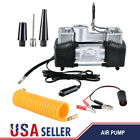 12V 150PSI Double Cylinder Air Pump Compressor Car Tire Tyre Inflator Heavy Duty
