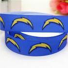 5 Yards 7 8 Los Angeles Chargers Grosgrain Ribbon Crafts Bows Scrapbook