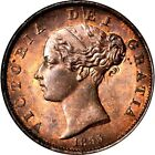 1855 Great Britain 1 2 Penny, NGC MS 66 RB, None Finer @ NGC & PCGS, Red Brown
