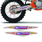 KTM SX SX-F SXF 125 250 350 450 SWINGARM DECAL GRAPHICS DID RENTHAL 2011-2019