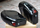 Saddlebags Saddle Bags Luggage w/ Turn Signal Brackets For Harley Honda Yamaha