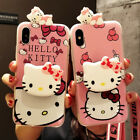 Cute Pink Hello Kitty Doll Stand Holder Case Cover for iPhone X XR XS Max 6 7 8+
