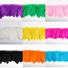 wholesale 10 yards Goose feather fringe trim for Crafts Costume Sewing 15 20cm