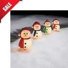 Outdoor Christmas Decoration LED Lighted Snowman Holiday Yard Xmas Decor 4 Pack